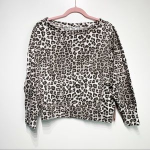 NWT Good American Cheetah Pullover Sweatshirt